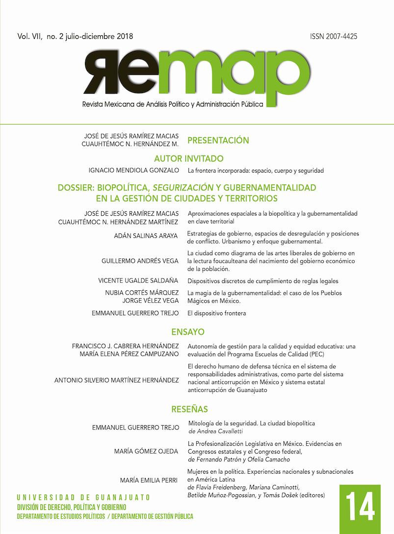 revista Mexicana de Análisis Político y Administración Pública 14